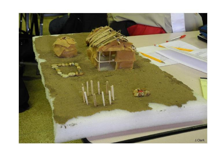Native American Village model at Banquet