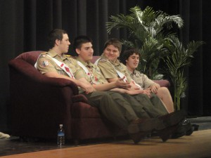 Officers answering a question during the Meet the Man session