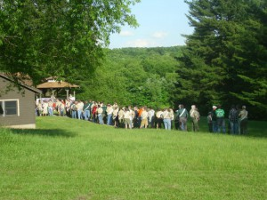 A Line to the Dining Hall at the June Weekend